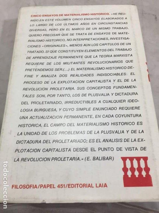 Libros de segunda mano: CINCO ENSAYOS DE MATERIALISMO HISTÓRICO, editorial Laia 1976 - Foto 10 - 200815442