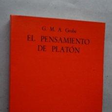 Libros de segunda mano: EL PENSAMIENTO DE PLATÓN. G.M. GRUBE.. Lote 287813398