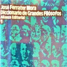 Libros de segunda mano: JOSE FERRATER MORA - DICCIONARIO DE GRANDES FILOSOFOS (DOS TOMOS). Lote 194782960