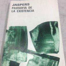 Libros de segunda mano: FILOSOFIA DE LA EXISTENCIA, KARL JASPERS, 1980, AGUILAR. Lote 276379903