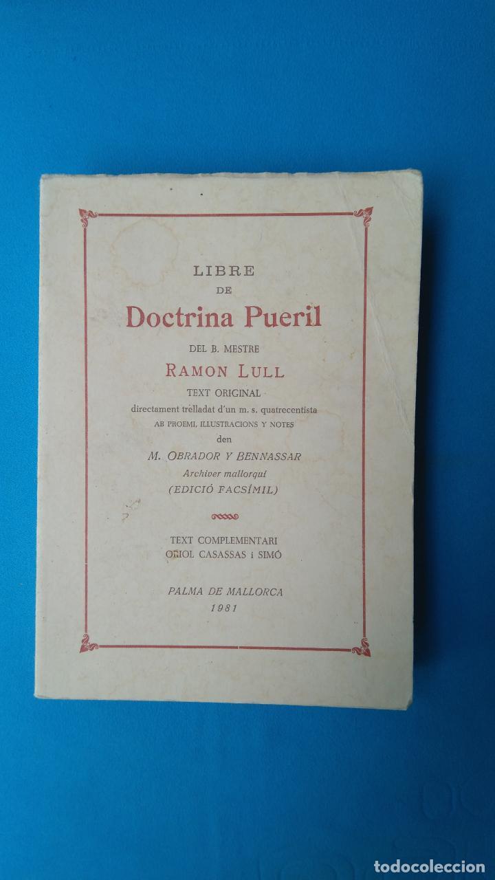 DOCTRINA PUERIL - RAMON LULL (Libros de Segunda Mano - Pensamiento - Filosofía)