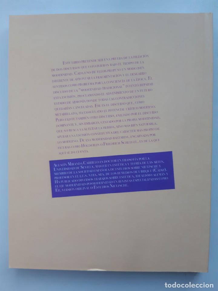 Libros de segunda mano: LA MODERNIDAD BASTARDA ESTUDIOS DE FILOSOFIA Agustin Miranda Carrillo prologo Manuel Barrios Casares - Foto 3 - 205078823