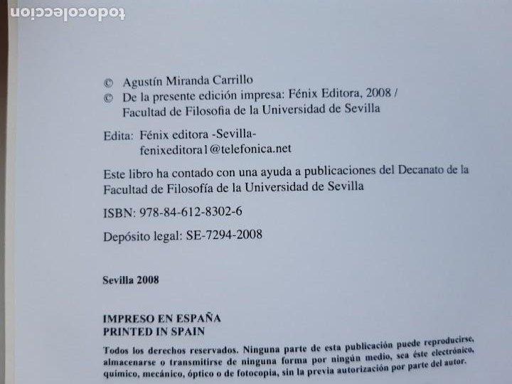 Libros de segunda mano: LA MODERNIDAD BASTARDA ESTUDIOS DE FILOSOFIA Agustin Miranda Carrillo prologo Manuel Barrios Casares - Foto 6 - 205078823
