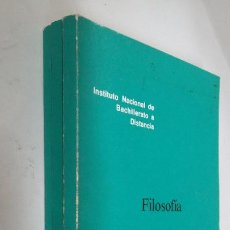Libros de segunda mano: FILOSOFIA. DOCUMENTO 0, 1 Y 2. 3 LIBROS. INSTITUTO NACIONAL DE 3º BACHILLERATO A DISTANCIA. TDK113. Lote 205676391