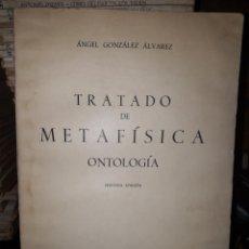 Libros de segunda mano: TRATADO DE MATAFISICA ONTOLOGÍA. Lote 205836631