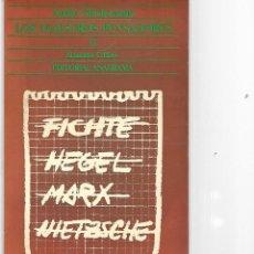 Libros de segunda mano: LIBRO DE ANDRE GLUCKSMANN LOS MAESTROS PENSADORES. Lote 205837751