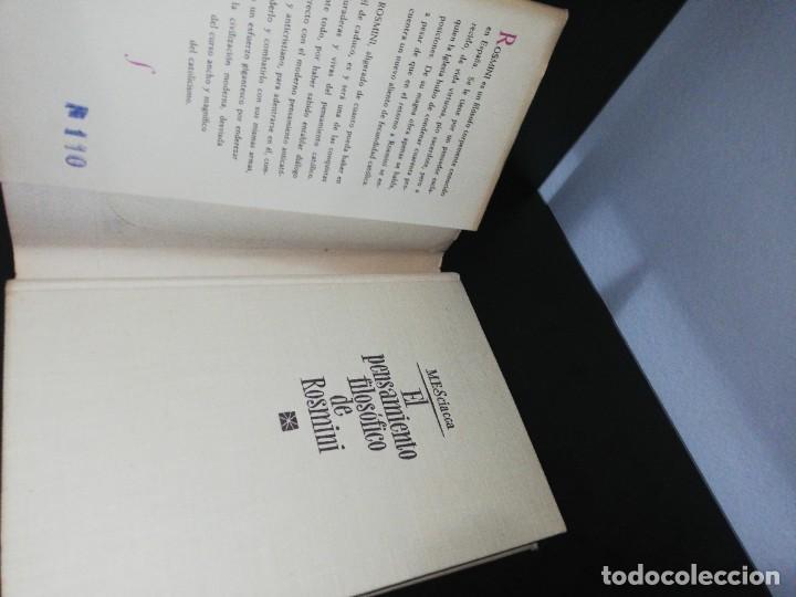 Libros de segunda mano: M. F. Sciacca, el pensamiento filosófico de rosmini - Foto 3 - 206943237