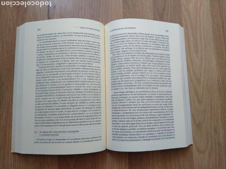 Libros de segunda mano: Hacia un nuevo mundo. Javier Monserrat. Filosofía política. - Foto 4 - 206968443
