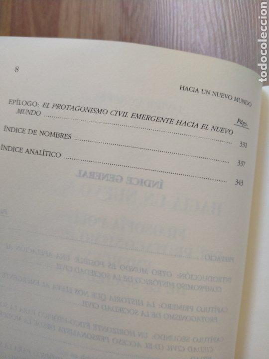 Libros de segunda mano: Hacia un nuevo mundo. Javier Monserrat. Filosofía política. - Foto 6 - 206968443