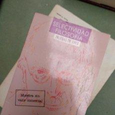 Libros de segunda mano: SELECTIVIDAD FILOSOFIA - PRUEBAS DE 1993 - COU ANAYA. Lote 207027896