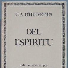 Libros de segunda mano: DEL ESPÍRITU. HELVÉTIUS. Lote 207031813