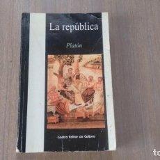 Libros de segunda mano: PLATON - LA REPUBLICA -. Lote 207041277