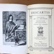 """Libros de segunda mano: DESCARTES """"DISCOURS DE LA METHODE"""" PARIS 1946. Lote 207351218"""