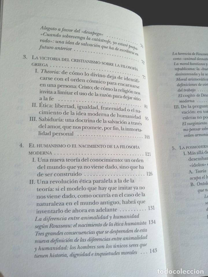 Libros de segunda mano: LUC FERRY - APRENDER A VIVIR, FILOSOFIA PARA MENTES JOVENES - EDICIONES TAURUS 2007 - Foto 4 - 207859923