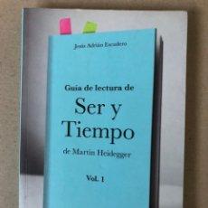 Libros de segunda mano: GUÍA DE LECTURA DE SER Y TIEMPO DE MARTIN HEIDEGGER. VOL. 1. HERDER EDITORIAL 2016.. Lote 208774348