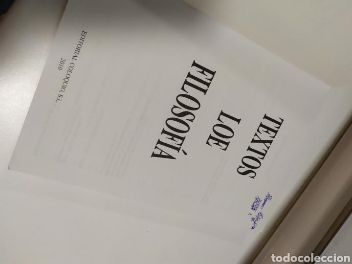 Libros de segunda mano: LIBRO FILOSOFIA ,Textos LOE Filosofía Universidad de Madrid- Editorial Coloquio - Foto 6 - 209240847