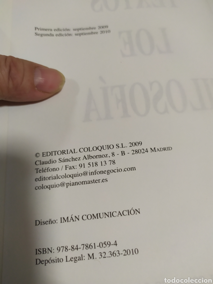 Libros de segunda mano: LIBRO FILOSOFIA ,Textos LOE Filosofía Universidad de Madrid- Editorial Coloquio - Foto 7 - 209240847