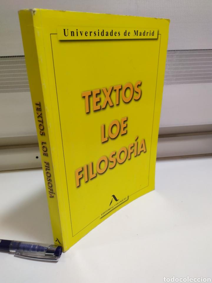 Libros de segunda mano: LIBRO FILOSOFIA ,Textos LOE Filosofía Universidad de Madrid- Editorial Coloquio - Foto 13 - 209240847