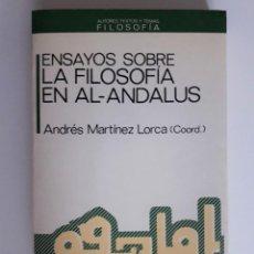 Libros de segunda mano: ENSAYOS SOBRE LA FILOSOFÍA EN EL AL-ANDALUS ANTHROPOS.. Lote 209876943