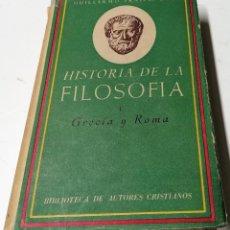 Libros de segunda mano: GUILLERMO FRAILE, HISTORIA DE LA FILOSOFÍA I. BIBLIOTECA DE AUTORES CRISTIANOS, 1956,. Lote 210383288