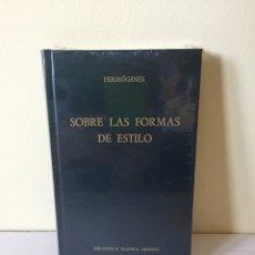 Libros de segunda mano: LIBRO HERMOGENES - SOBRE LAS FORMAS DE ESTILO - BIBLIOTECA CLÁSICA GREDOS - CLÁSICOS GRECIA Y ROMA. Lote 210643997