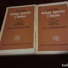 Libros de segunda mano: DIALOGOS APOCRIFOS Y DUDOSOS - PLATÓN TOMO I Y II. Lote 210699209