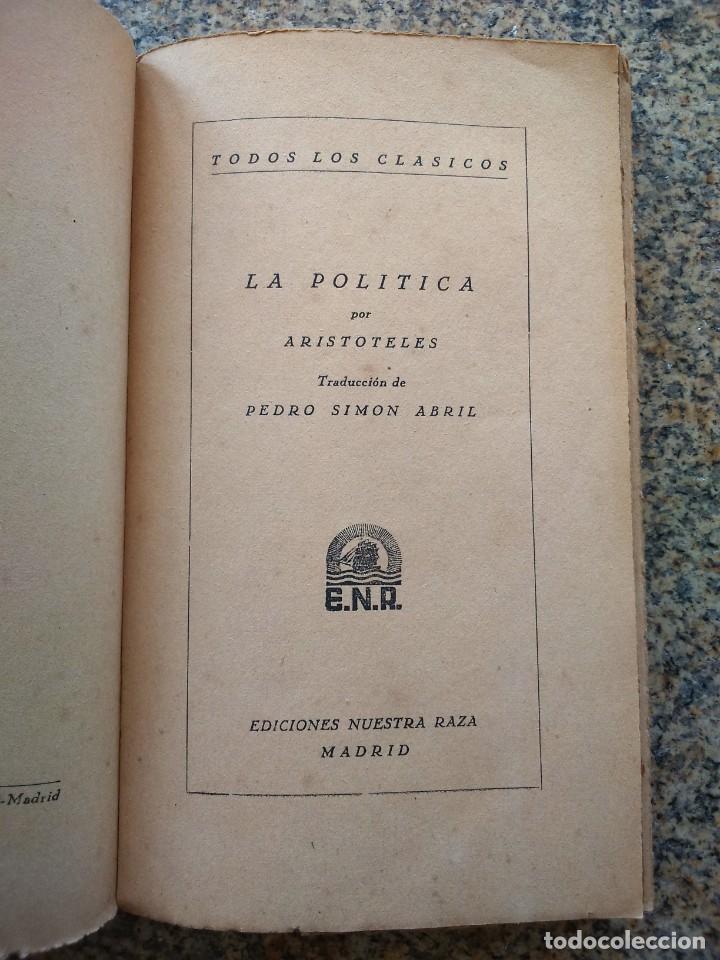 Libros de segunda mano: ARISTOTELES -- LA POLITICA -- EDICIONES NUESTRA RAZA -- - Foto 2 - 210817471
