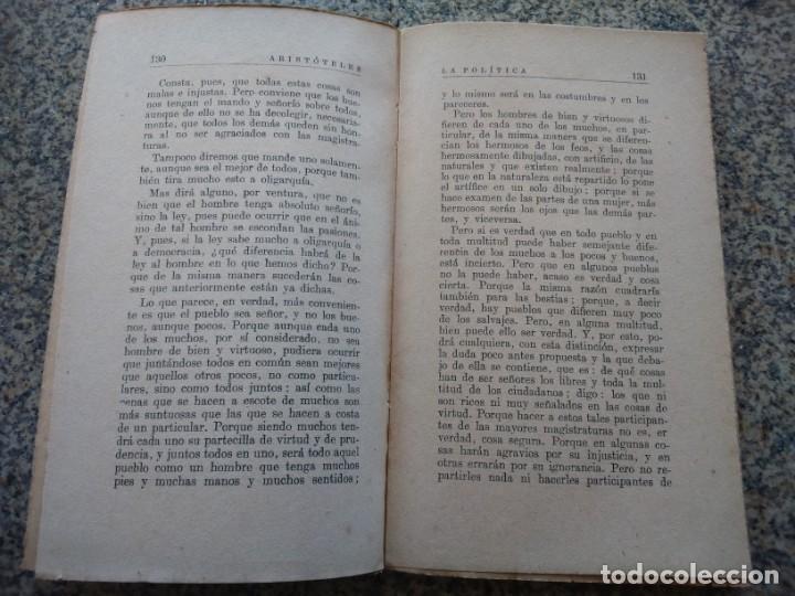 Libros de segunda mano: ARISTOTELES -- LA POLITICA -- EDICIONES NUESTRA RAZA -- - Foto 3 - 210817471