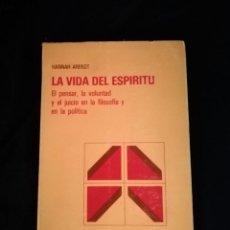 Livros em segunda mão: LA VIDA DEL ESPÍRITU - HANNA ARENDT. Lote 210831389