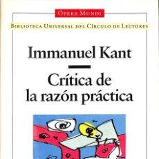 Libros de segunda mano: CRÍTICA DE LA RAZÓN PRÁCTICA. Lote 210839365