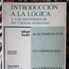 Libros de segunda mano: ALFRED TARSKI . INTRODUCCIÓN A LA LÓGICA Y A LA METODOLOGÍA DE LAS CIENCIAS DEDUCTIVAS. Lote 210971396