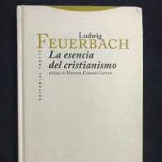 Libri di seconda mano: LA ESENCIA DEL CRISTIANISMO - LUDWIG FEUERBACH. Lote 211511351