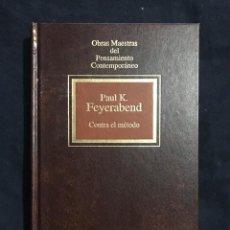 Libri di seconda mano: CONTRA EL MÉTODO - PAUL K. FEYERABEND. Lote 211511356