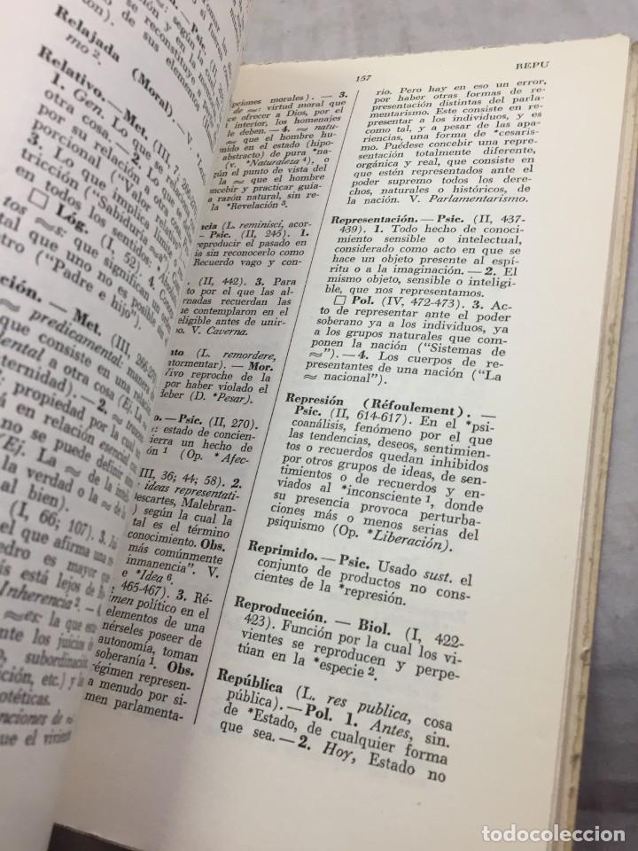 Libros de segunda mano: VOCABULARIO DE FILOSOFIA. Seguido de un cuadro histórico de las escuelas de filosofía Jolivet, Regis - Foto 5 - 211757300