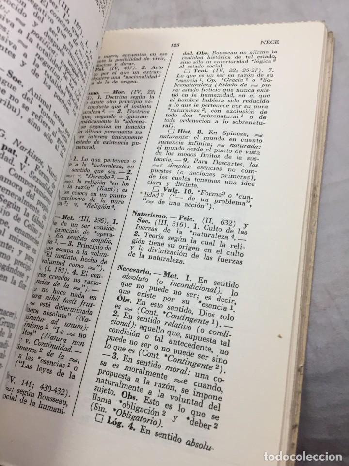 Libros de segunda mano: VOCABULARIO DE FILOSOFIA. Seguido de un cuadro histórico de las escuelas de filosofía Jolivet, Regis - Foto 6 - 211757300
