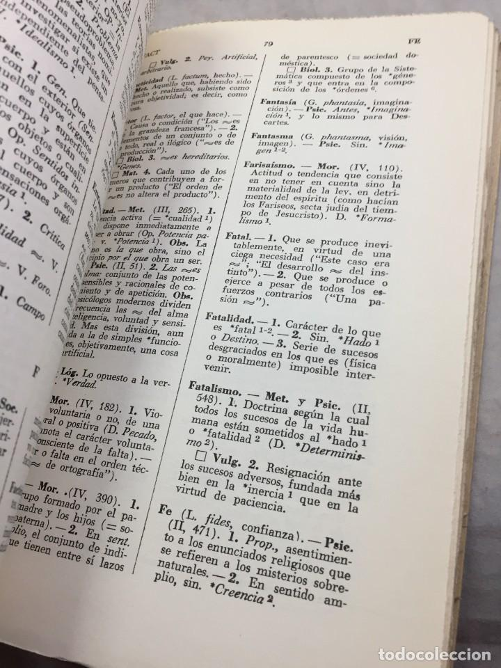 Libros de segunda mano: VOCABULARIO DE FILOSOFIA. Seguido de un cuadro histórico de las escuelas de filosofía Jolivet, Regis - Foto 10 - 211757300
