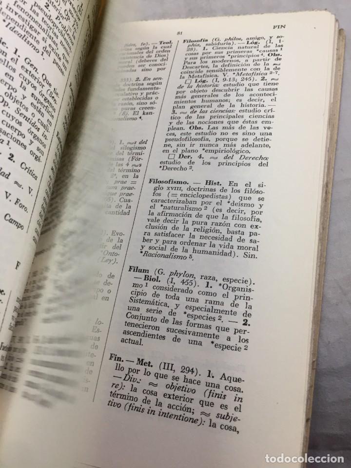 Libros de segunda mano: VOCABULARIO DE FILOSOFIA. Seguido de un cuadro histórico de las escuelas de filosofía Jolivet, Regis - Foto 11 - 211757300
