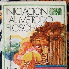 Libros de segunda mano: KARL JASPERS . INICIACIÓN AL MÉTODO FILOSÓFICO. Lote 212005576