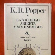 Livros em segunda mão: LA SOCIEDAD ABIERTA Y SUS ENEMIGOS - K. R. POPPER. Lote 212198708