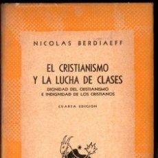 Libros de segunda mano: AUSTRAL Nº 26 : BERDIAEFF : EL CRISTIANISMO Y LA LUCHA DE CLASES (1946). Lote 212774867