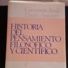 Libros de segunda mano: HISTORIA DEL PENSAMIENTO FILOSOFICO Y CIENTIFICO. GIOVANNI REALE. DARIO ANTISERI. HERDER 1999.. Lote 213006267