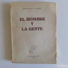 Libros de segunda mano: LIBRERIA GHOTICA. JOSÉ ORTEGA Y GASSET. EL HOMBRE Y LA GENTE. REVISTA DE OCCIDENTE 1957.. Lote 213370913