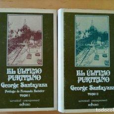 Libros de segunda mano: GEORGE SANTAYANA EL ULTIMO PURITANO. Lote 213899947