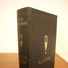Libros de segunda mano: PLATÓN: OBRAS: DIÁLOGOS/ LA REPÚBLICA (EDAF, LOS CLÁSICOS, 1972) PAPEL BIBLIA. 1417 PP. RARO.. Lote 214035887