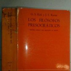 Libros de segunda mano: LOS FILÓSOFOS PRESOCRÁTICOS 1979 G. S. KIRK Y J. E. RAVEN 2ª REIMP. GREDOS BHF 63. Lote 214132350