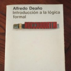 Livros em segunda mão: INTRODUCCIÓN A LA LÓGICA FORMAL - ALFREDO DEAÑO.. Lote 214550005