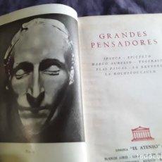 Libros de segunda mano: GRANDES PENSADORES. EL ATENEO, 1959 (ARGENTINA). SENECA, EPICTETO, TEOFRASTO, PASCAL, LA BRUYERE, ET. Lote 215112622