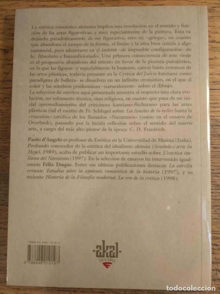 Libros de segunda mano: VV. AA. — La religión de la pintura. Escritos de filosofía romántica del arte - Foto 2 - 215660567