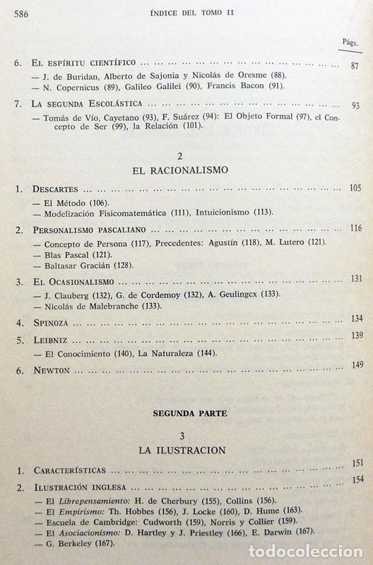 Libros de segunda mano: HISTORIA DE LA REFLEXIÓN, TOMO II: DE OCKHAM A LÉVI-STRAUSS - LUIS CENCILLO - 1972 - VER INDICE - Foto 4 - 216359521