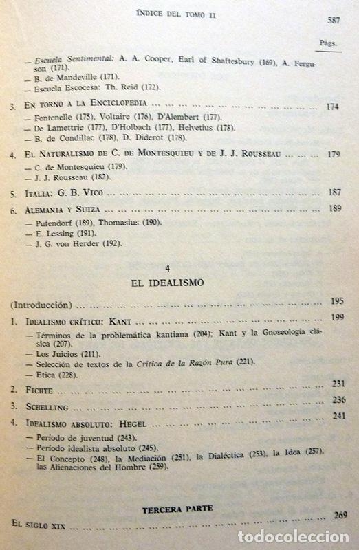 Libros de segunda mano: HISTORIA DE LA REFLEXIÓN, TOMO II: DE OCKHAM A LÉVI-STRAUSS - LUIS CENCILLO - 1972 - VER INDICE - Foto 5 - 216359521